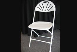 White Poly Chair | www.partytimetentrentals.ca