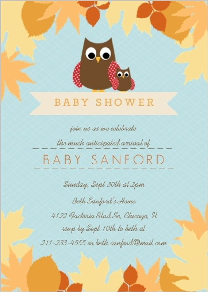 Fall Baby Shower Ideas Invitations Invite Wording Themes DIY Decor
