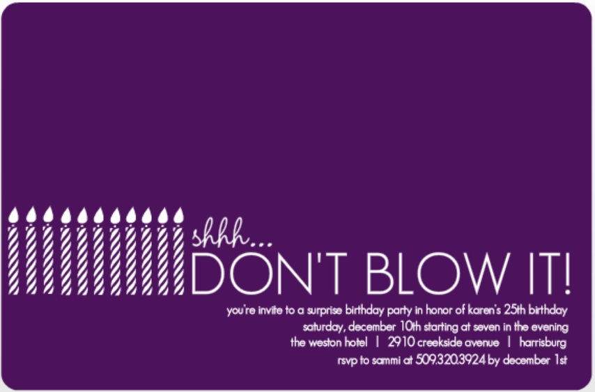 surprise party invitation wording ideas