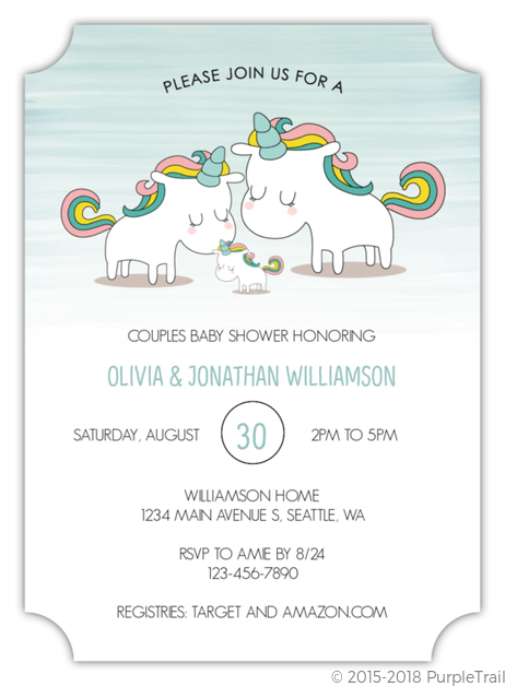 unicorn party invitations ideas and