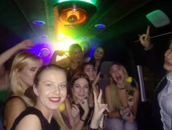 bachelorette party bus ride