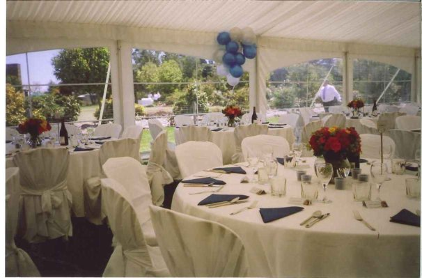 chair cover hire christchurch laptop desk for recliner table setting - round tables, white linen and covers | party weddings jukeboxes ...