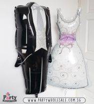 Wedding Bride and Groom Love Balloons Singapore Party Wholesale Centre