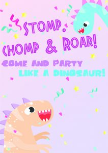 free printable dinosaur birthday