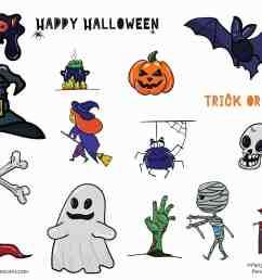 free halloween clip art set [ 2048 x 1448 Pixel ]