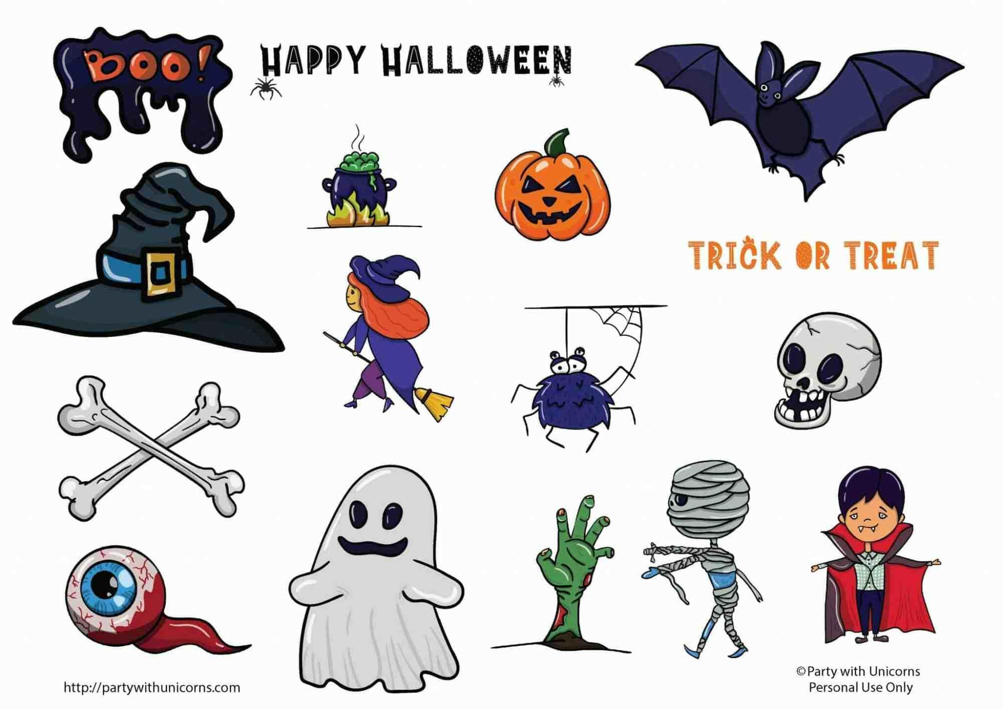 hight resolution of free halloween clip art set