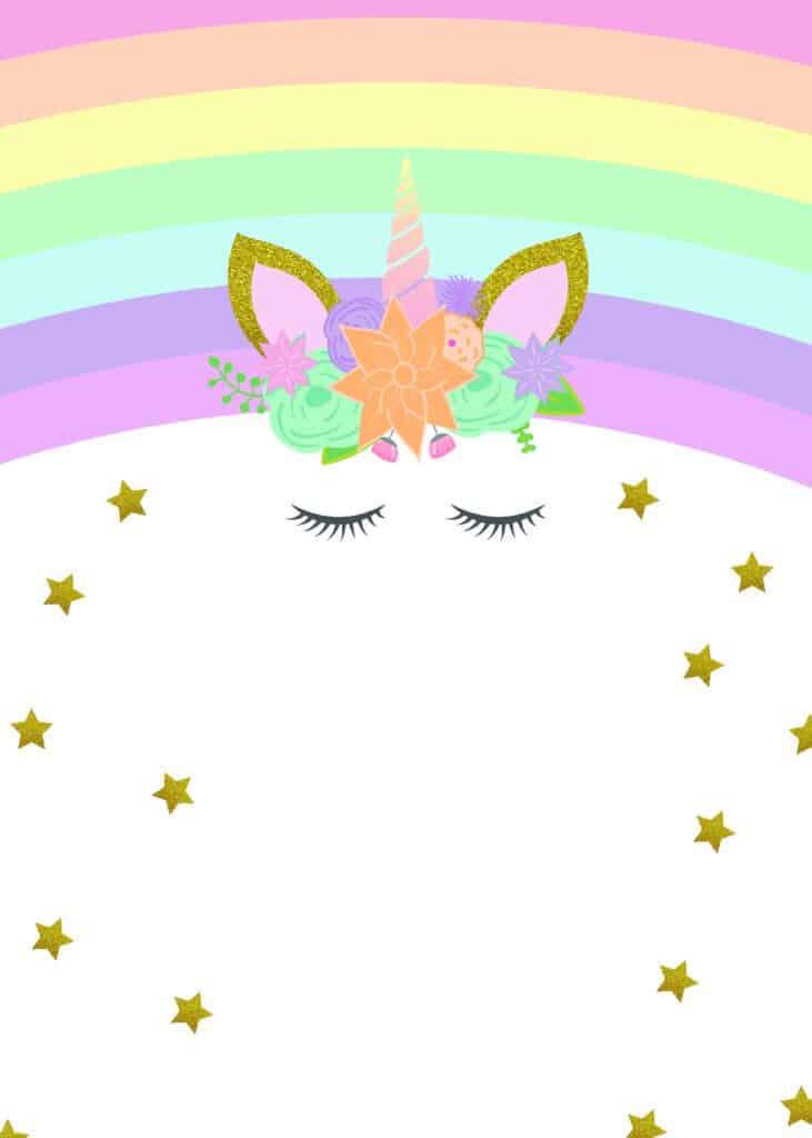 unicorn birthday invitations free