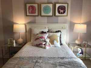 unicorn bedroom wall steps simple unicorns party space feature easy focal