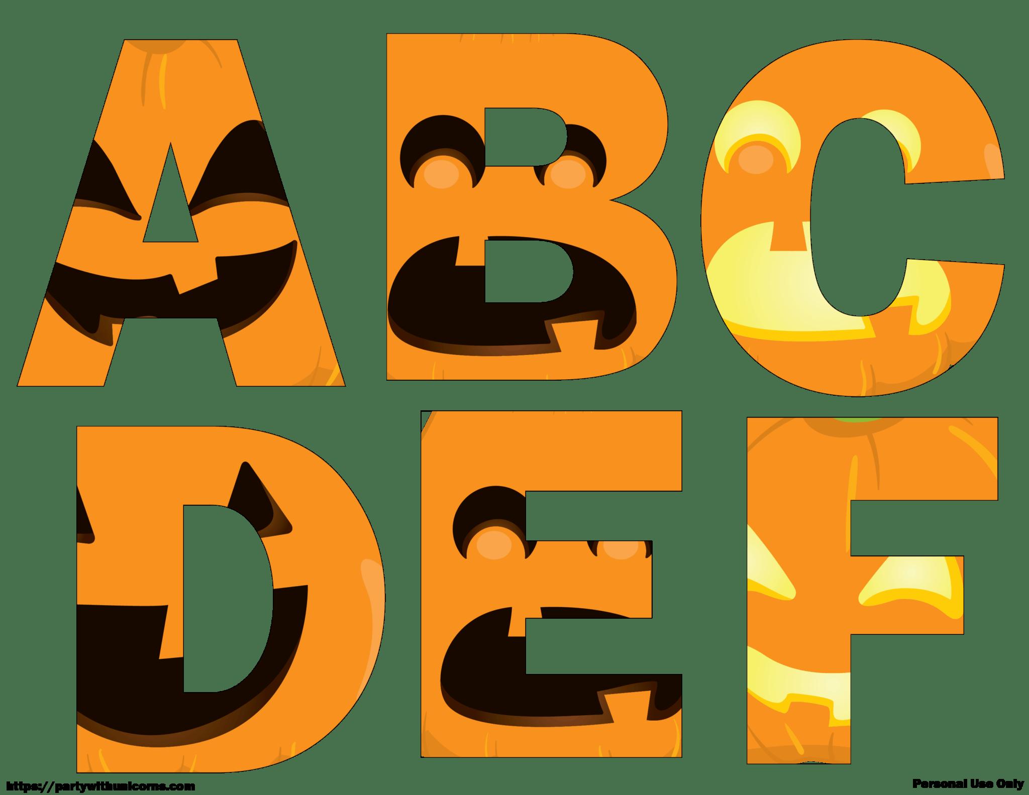 Halloween Letters Printable