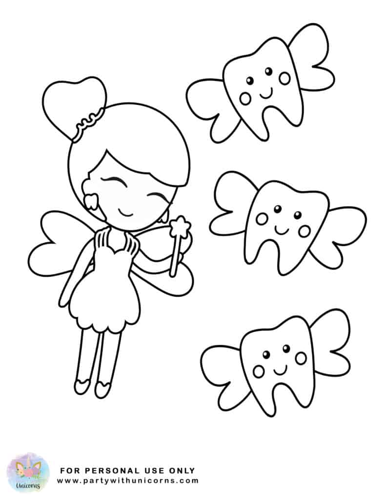Tooth Fairy Coloring Pages