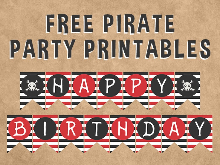 free pirate party printables