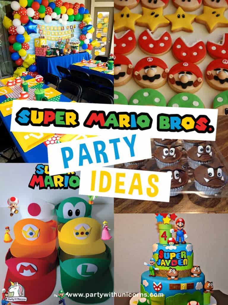 free super mario party printables