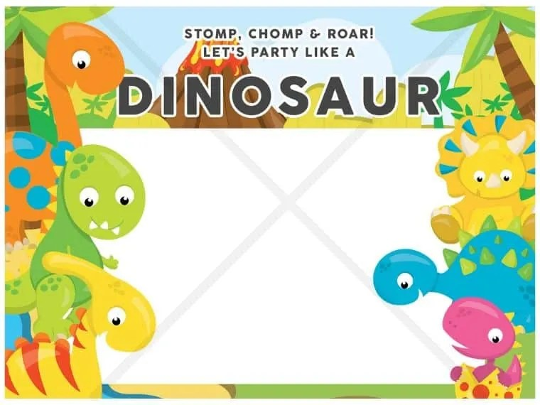 download dinosaur party printables free