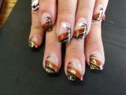 easy diy fall nail design