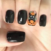 easy diy fall nail design