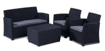 ᐅ allibert 212406 lounge set corona mit kissenbox tisch 2 sessel 1 sofa 1 tisch rattanoptik kunststoff graphit ᐅ partyzelt ratgeber 2020
