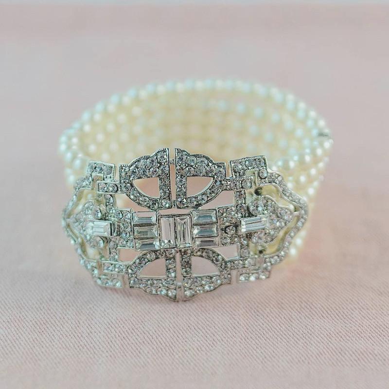 Gigi_Vintage Bridal Pearl Bracelet