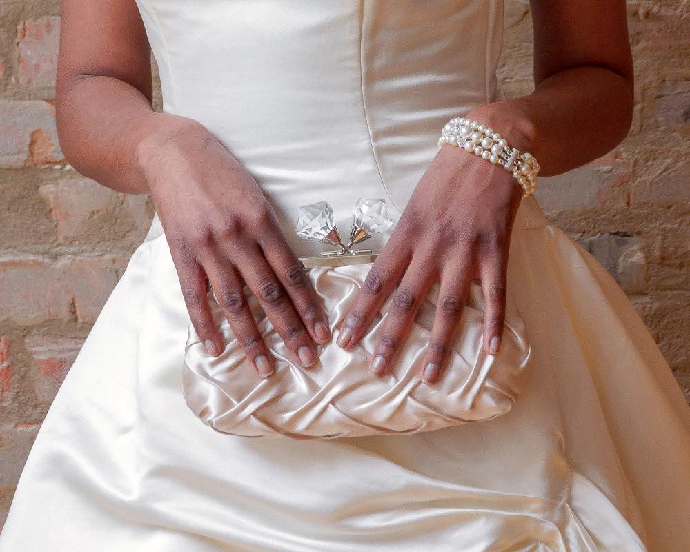 Georgia_Bridal Satin Clutch Purse