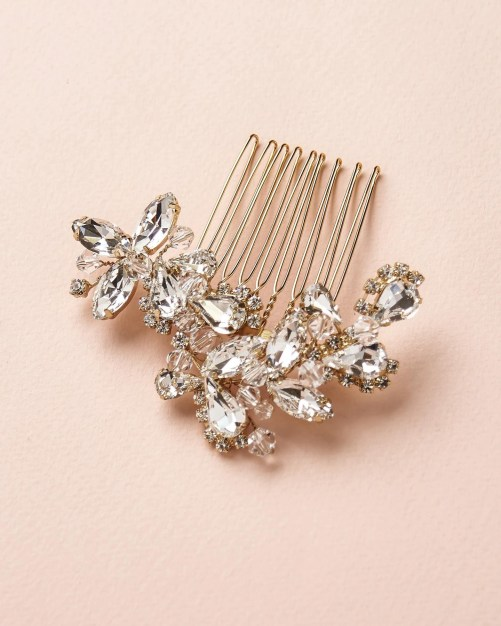 Maddie_Bridal crystal Comb, Silver, Rose Gold, Gold