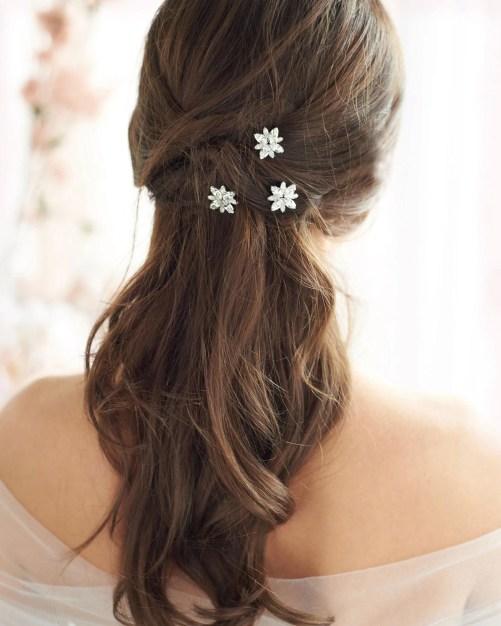 Palmer_Set of 3 Bridal Petite Opal & Crystal Hair Pins