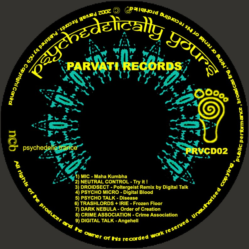 va - Psychedelically Yours - prvcd02 - CD image