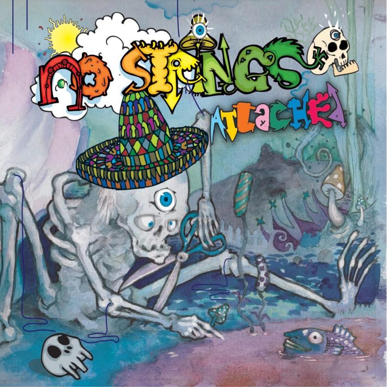 Split Album - Psilo Cowboys, Derango & Maniac Bubbles - No Strings Attached - prvcd15 - front cover
