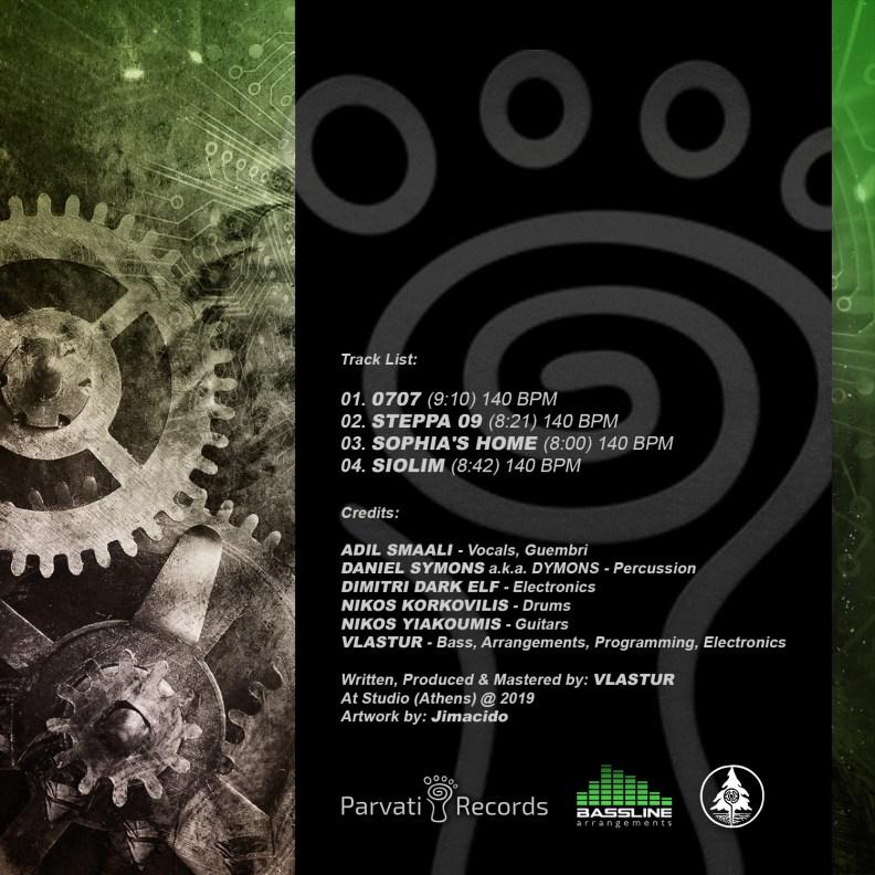 Vlastur Dub Band in Trance - prvep29 - back cover