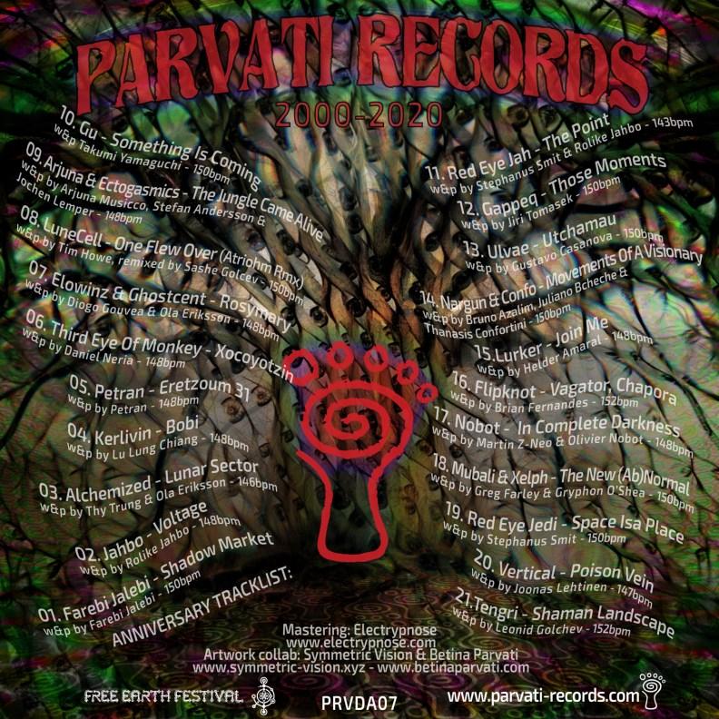 va - Parvati Records 20th Anniversary - prvda07 - back cover
