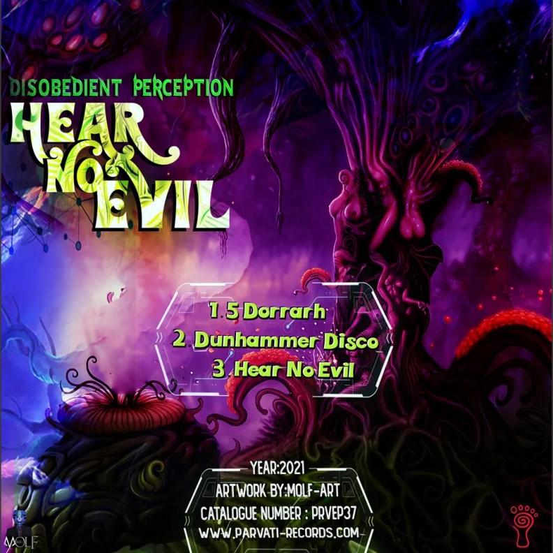 Disobedient Perception - Hear No Evil - prvep37 - back cover