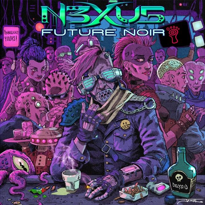 N3XU5 -Future Noir - Parvati Records EP - front cover - psytrance