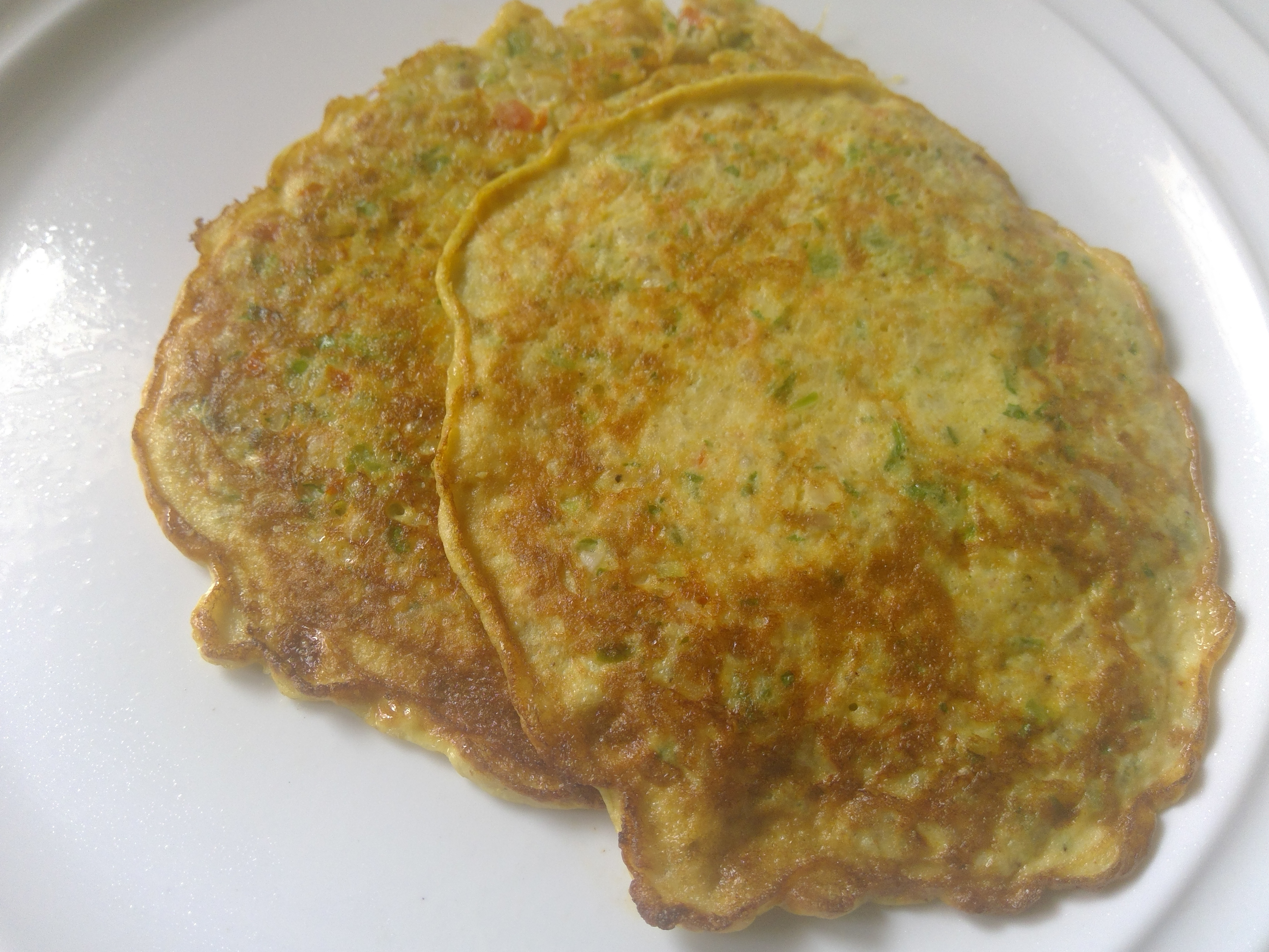 Healthy savoury vegetable pancakes