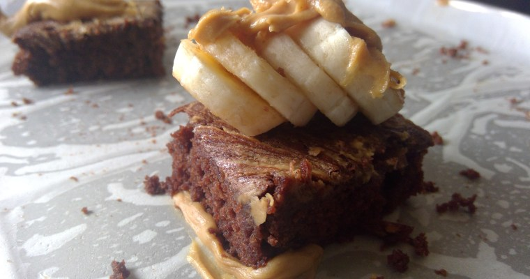 Banana Peanut Butter Brownies