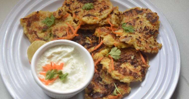 Rice Fritters/ Leftover Rice Veggie Fritters