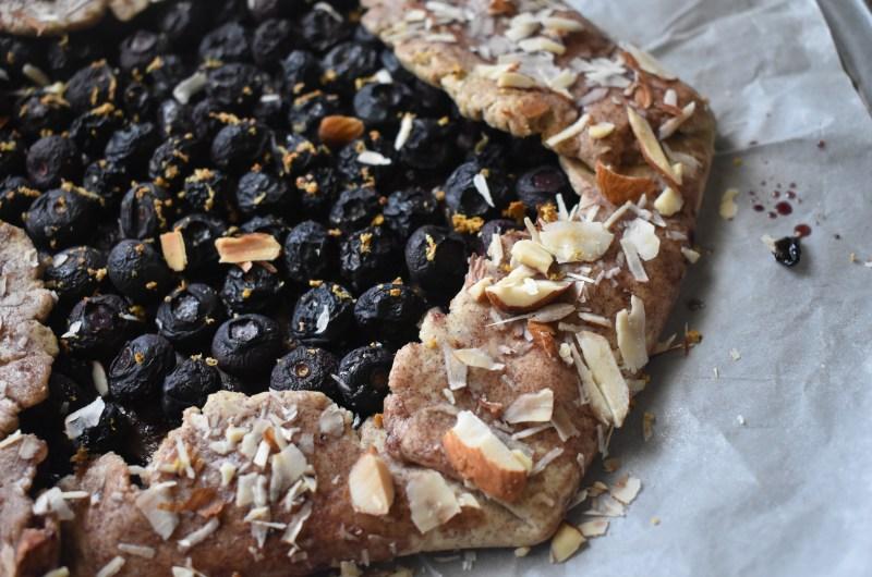 Gluten-Free Healthy Blueberry Almond Galette