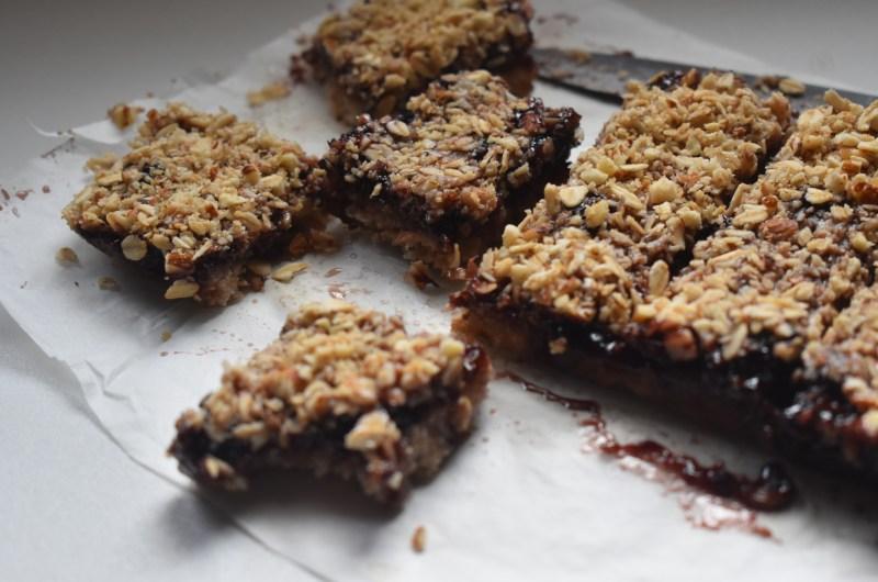 Easy Vegan Gluten-free Jam Bars
