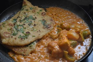 Easy No Yeast Naan Bread - Herb topped Wheatmeal naan bread