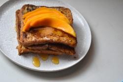 French toast with mango honey