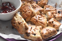 Triple Coconut Scones