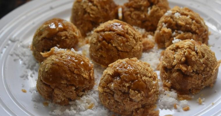 Roasted Rice Coconut Balls/Pori Arisi Urundai