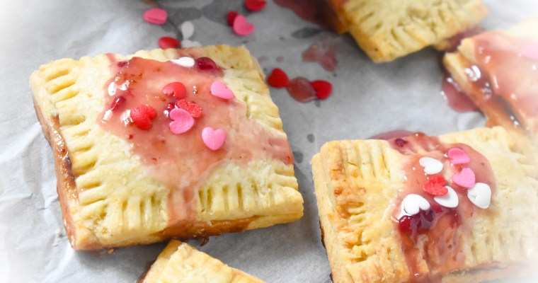 Homemade Glazed Strawberry Pop Tarts
