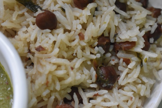 Black Chana Pulao - Parveenskitchen.com