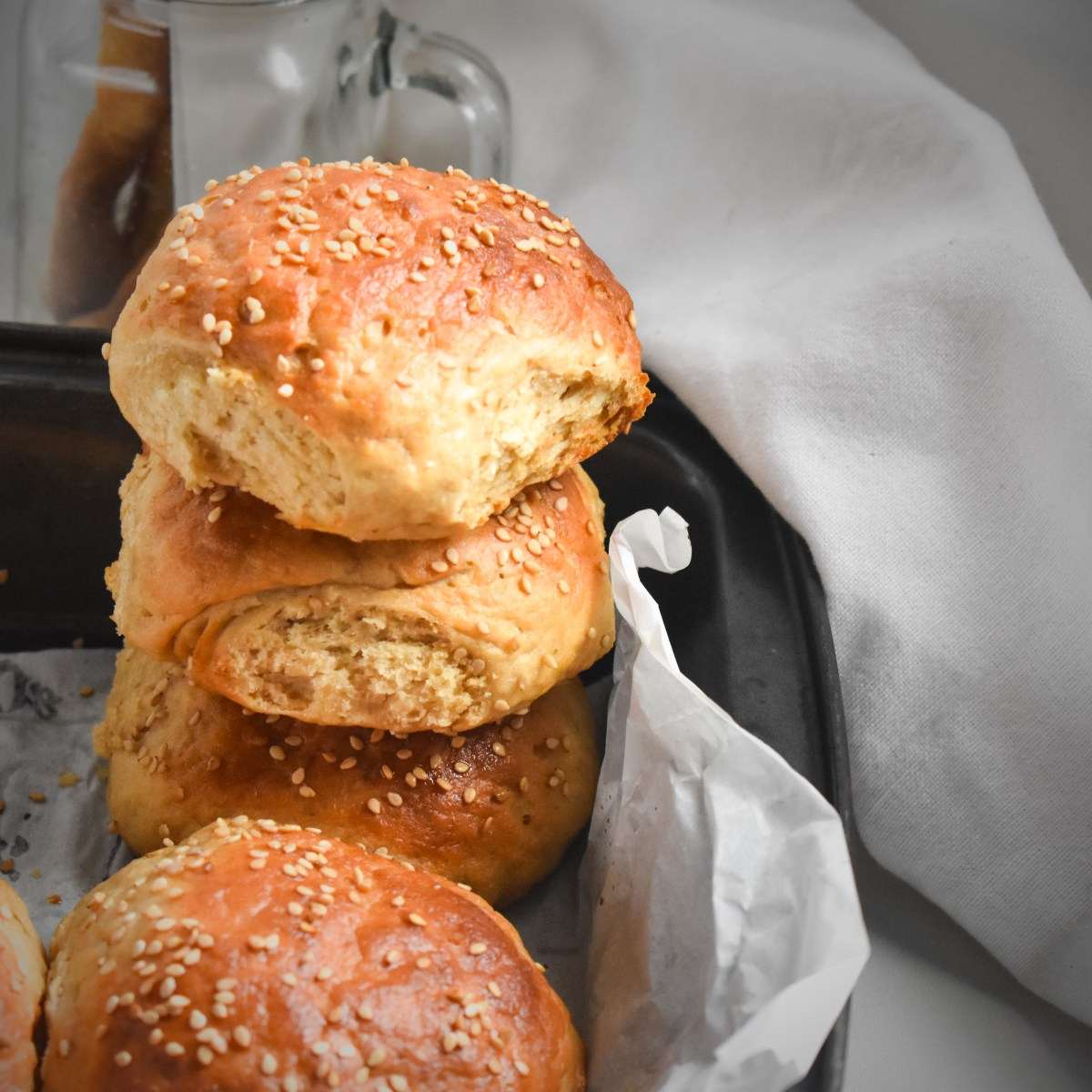 Homemade Burger Buns - Parveenskitchen.com