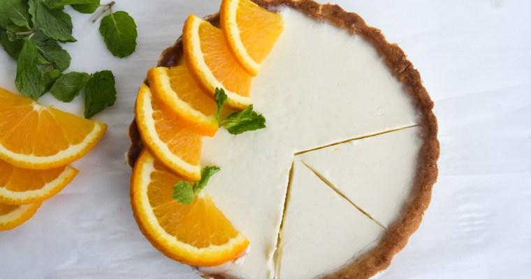Easy Creamy Orange Posset Tart