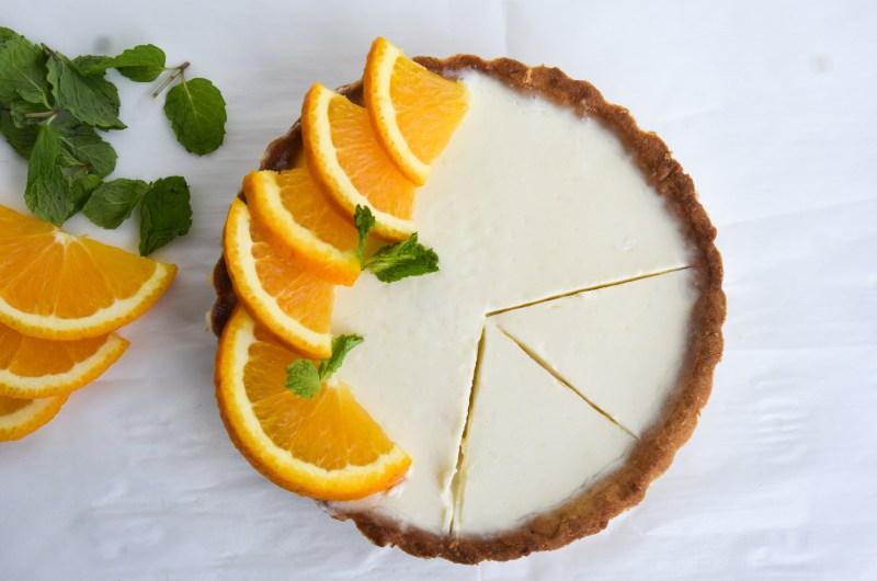 280Easy Creamy Orange Posset Tart