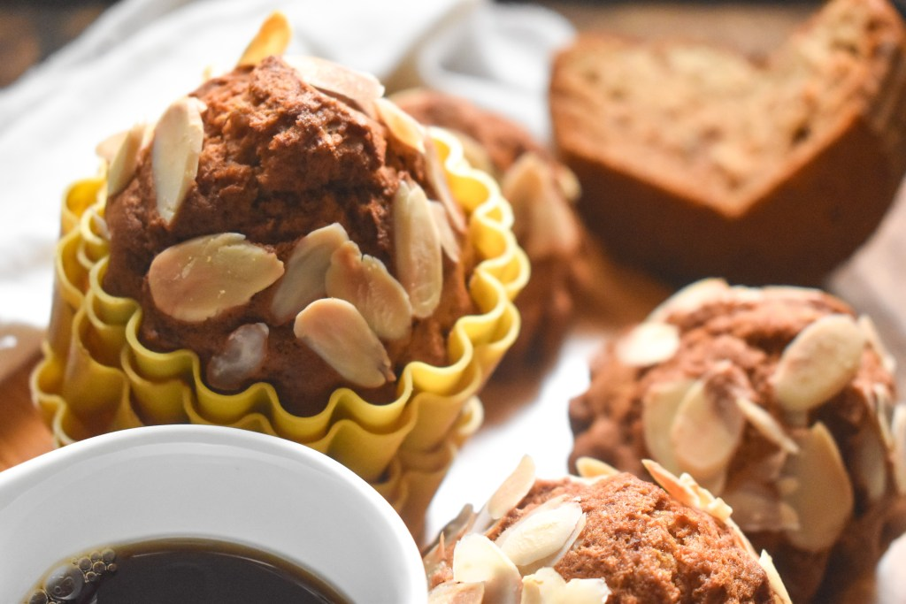 Maple Banana Almond Muffins - Parveenskitchen.com
