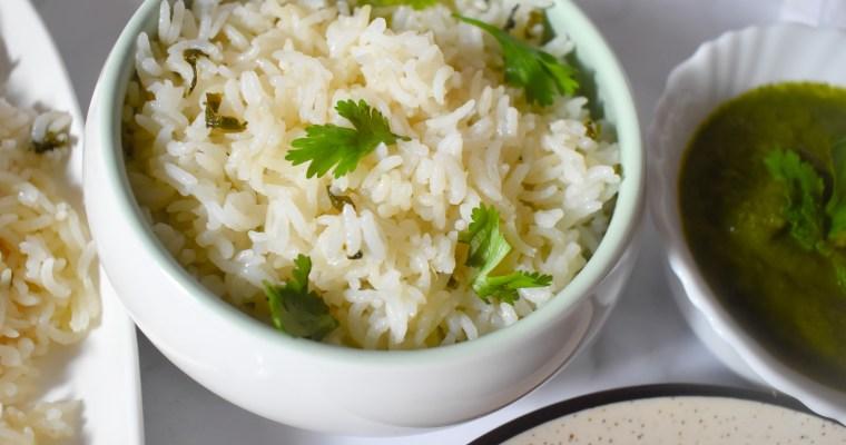 Coconut Milk Rice/Thengai Paal Saadam