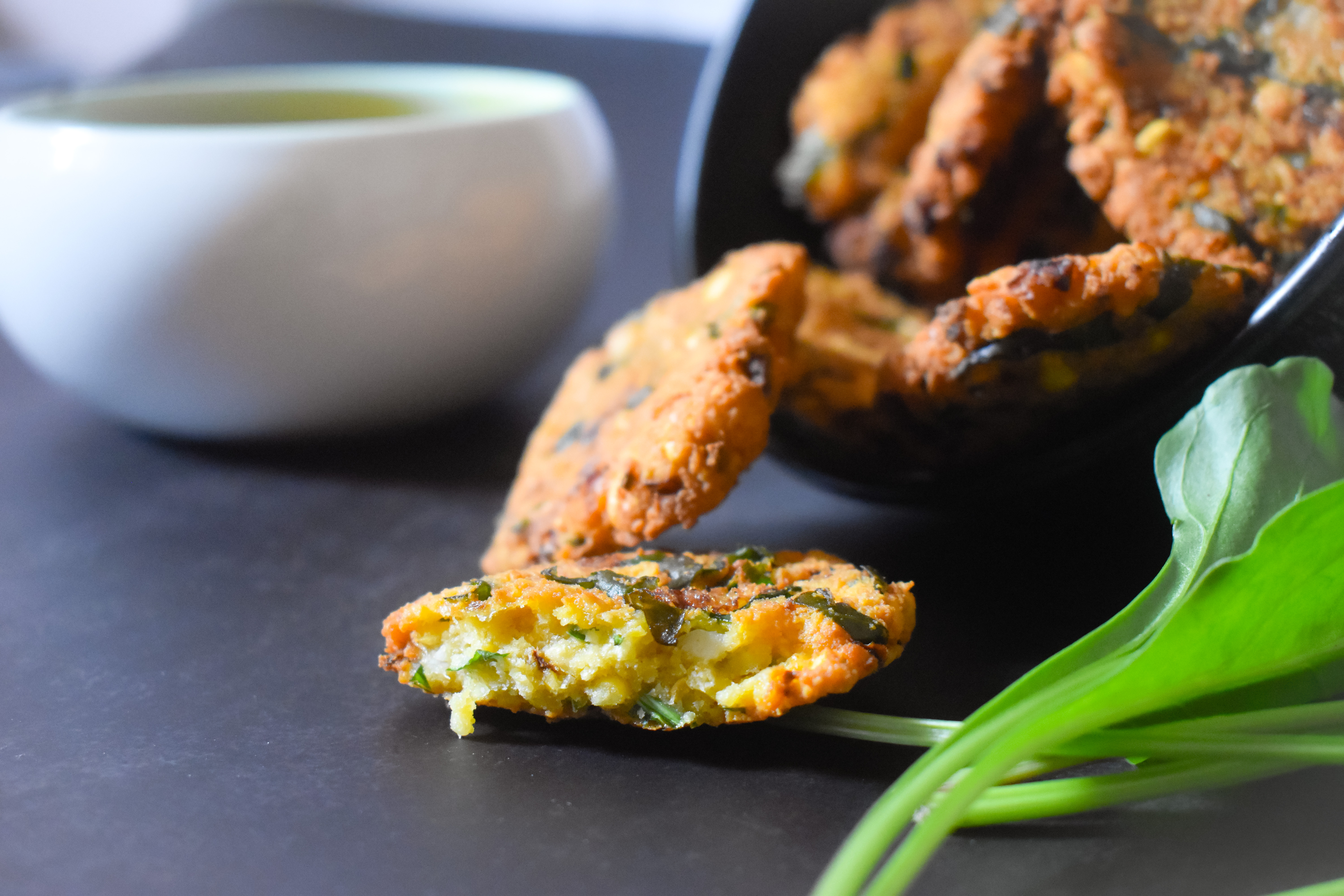 Keerai Vadai | Spinach Lentils Fritters
