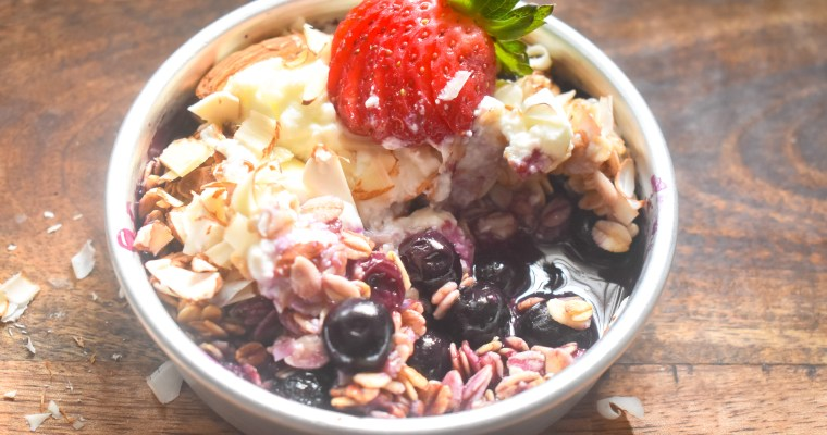 Single Serve Air fryer Blueberry Breakfast Crisp