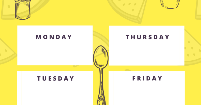 Download -Yellow Meal Planner