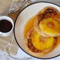 Upside Down Caramelized Pineapple Pancake